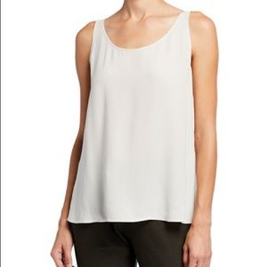 Eileen Fisher Silk Silver Tank Top sz XL